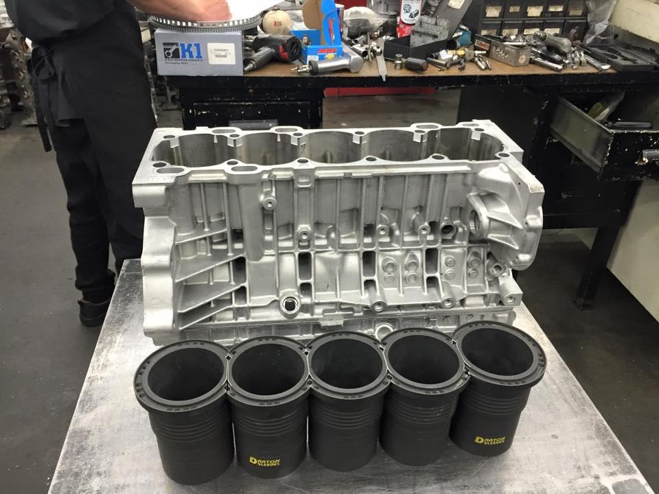 Darton Sleeve Install Volvo 5 Cylinder