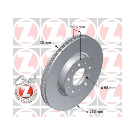 Zimmermann 280mm Front Brake Rotor for 850 S70 V70 C70